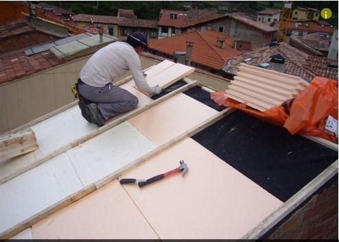 Reparacion tejados presupuesto reparaci n tejados mixtos sanwich teja pizarra - Madera aislante termico ...