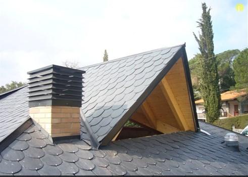 Tejado pizarra reparacion tejados - Estructuras de madera para tejados ...